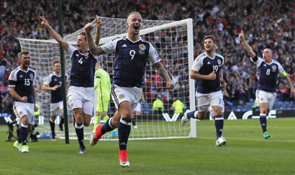 Leigh Griffiths scored his second free-kick just minutes later to put Scotland ahead