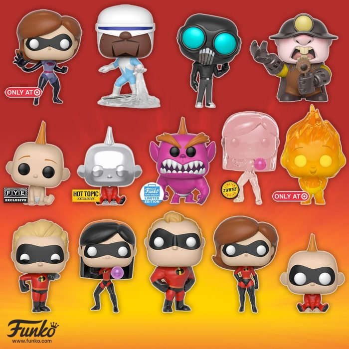 Incredibles 2 Funko POPs