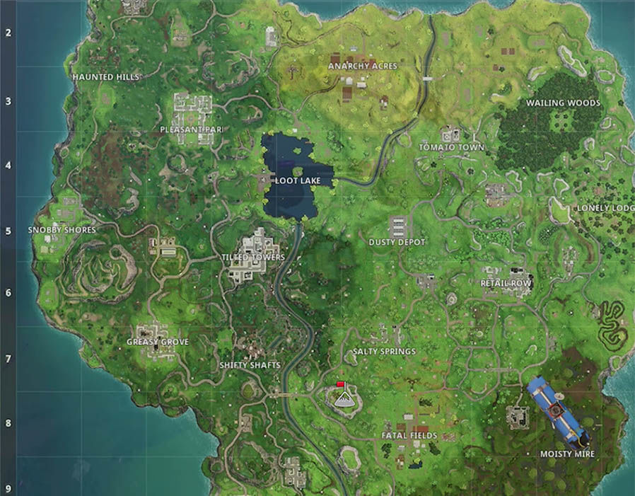 Here are all the Mountain Peak locations in Fortnite. Red flags represent large peaks