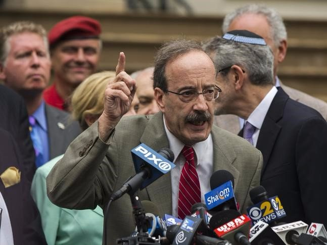 U.S. Representative Eliot Engel (D-NY) speaks during a pro-Israel rally organised by local Jewish communities in front of New York City hall in New York July 14, 2014. REUTERS/Lucas Jackson