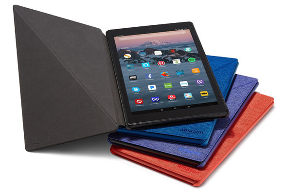 The all-new Fire HD 10 ships in a swathe of vibrant colours, with a matching origami-style case