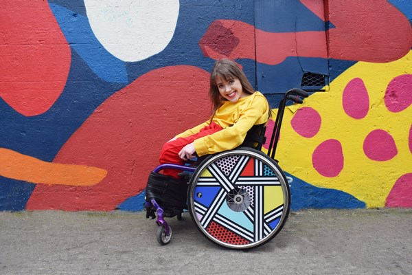 Camille walala wheel cover for izzy wheels photo 2 by ailbhe keane