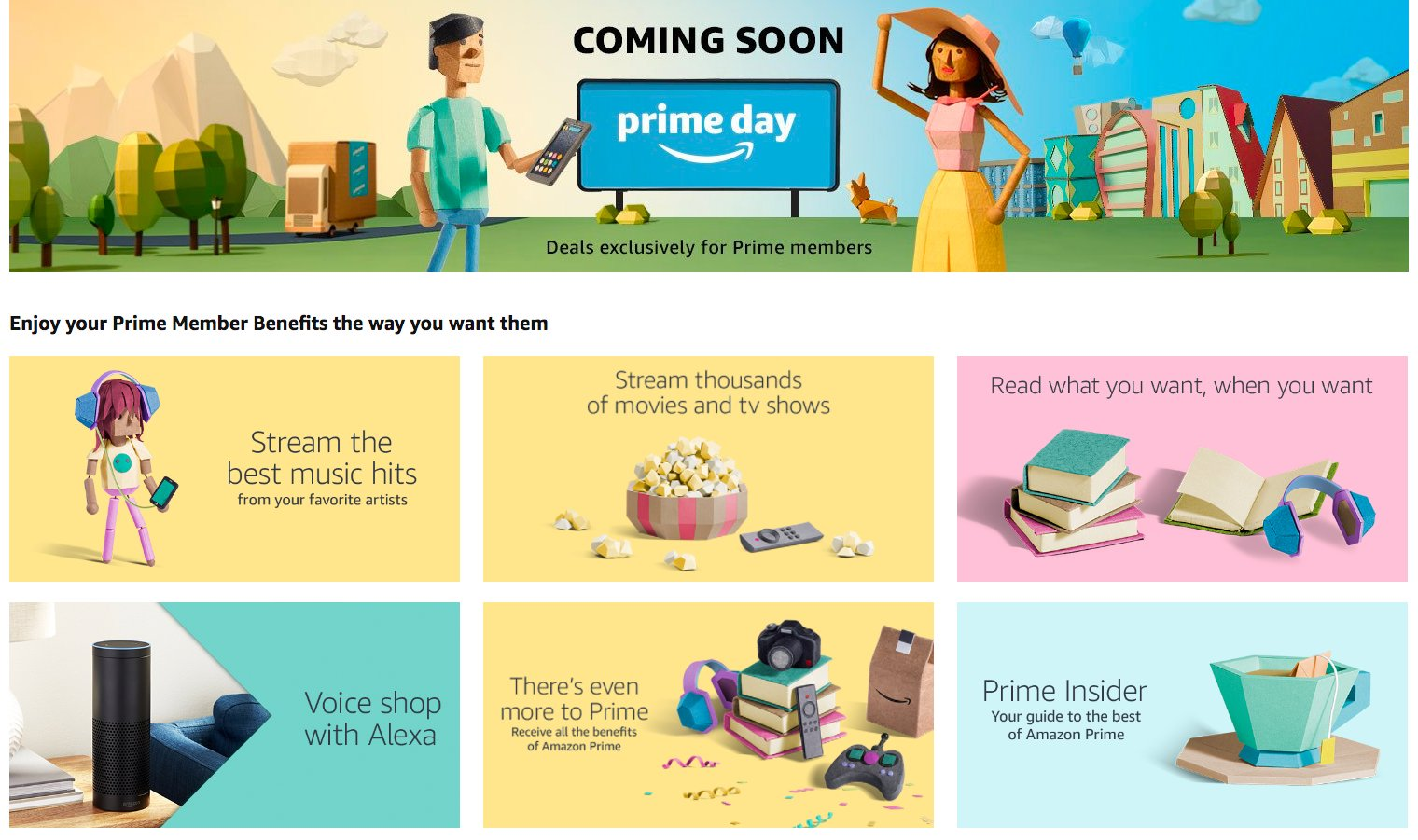 prime day homepage