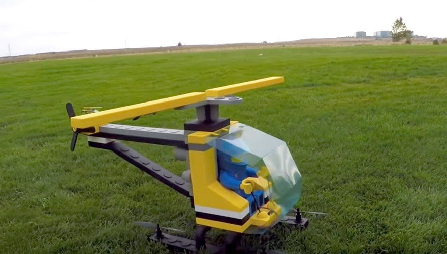 flying Lego helicopter