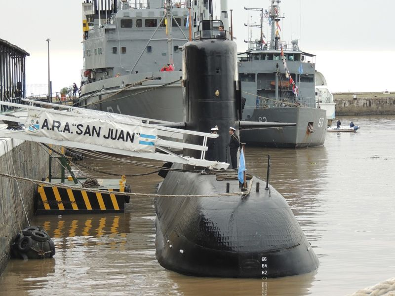 The Argentine sub <em>San Juan</em>—photographed here in May 2017, just six months before its tragic loss—has been found at the bottom of an undersea ravine.