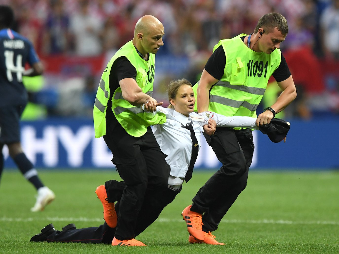 Pussy Riot on field dragged away World Cup 2018 Getty Images