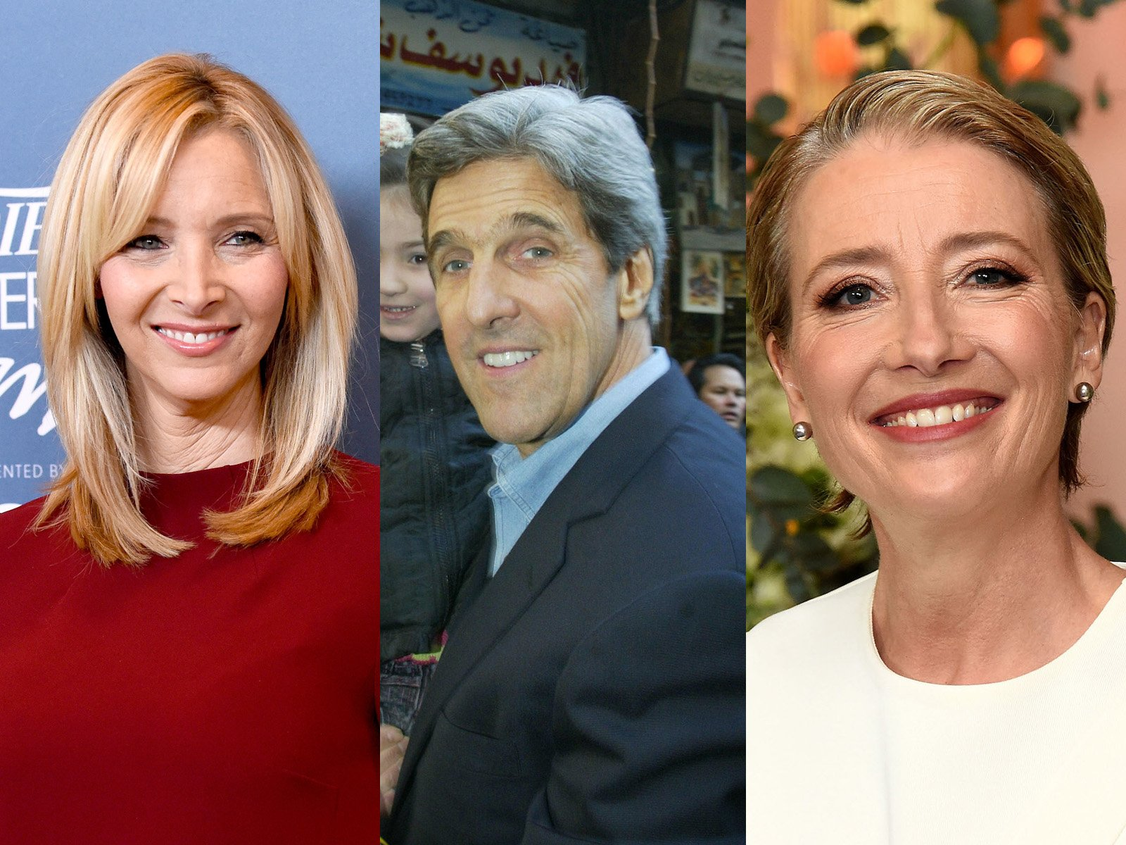 Lisa Kudrow, John Kerry, and Emma Thompson
