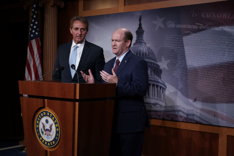 Senators Flake and Coons