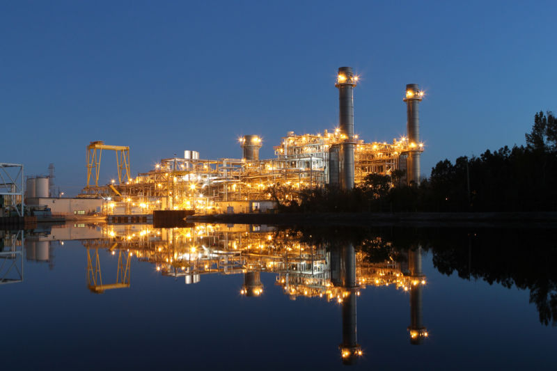 Shiny new natural gas power plants like this one in North Carolina have replaced a number of old coal-burning plants.