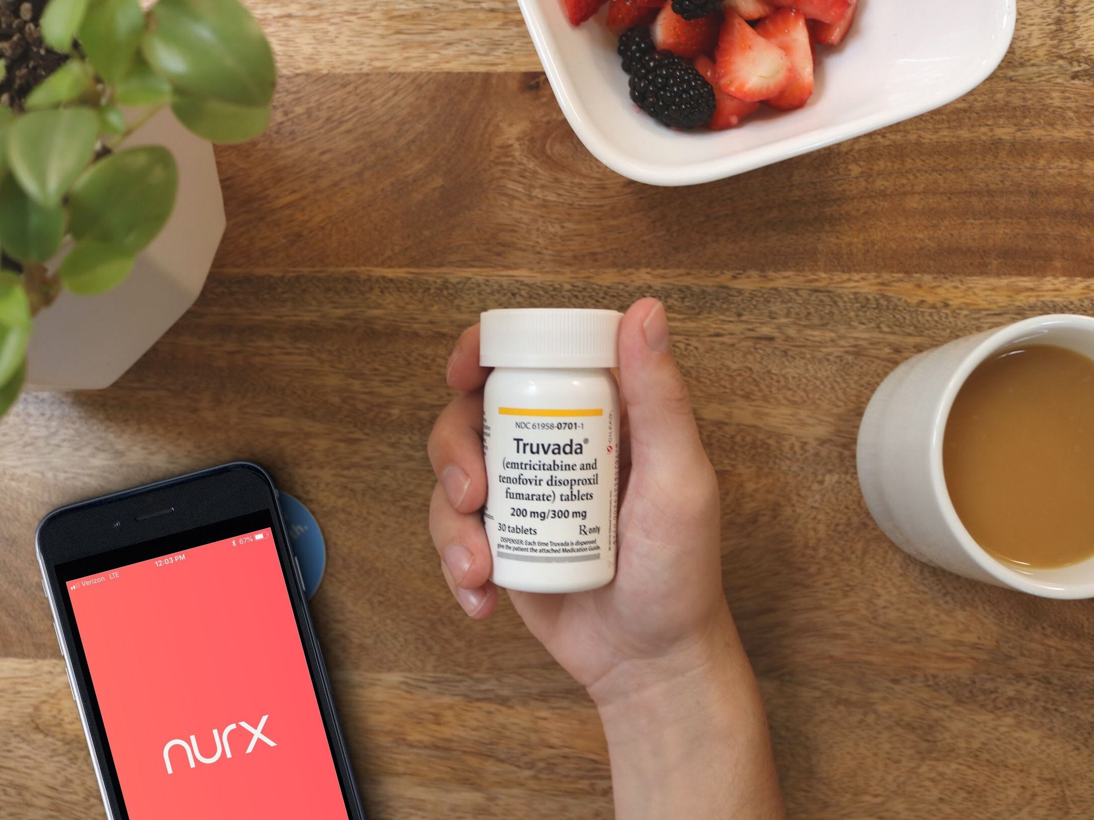 nurx truvada prep pill bottle