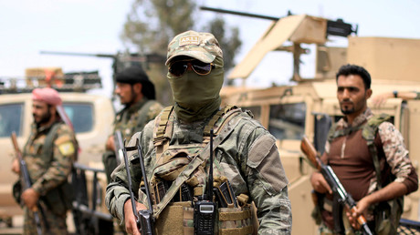FILE PHOTO: Fighters of Syrian Democratic Forces (SDF) in Deir ez-Zor © Rodi Said