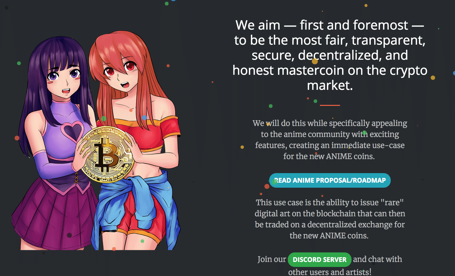 animecoin homepage