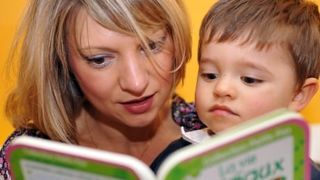 Parent reads to child