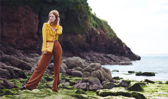 Main image of model in brown trousers