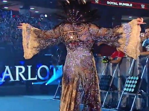 Woo! Charlotte Flair in one elaborate gown.