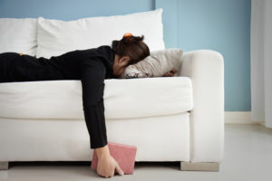 woman with fatigue image